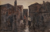 paesaggio con figure by antonio asturi