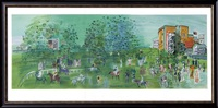 le champ de course d'ascot by raoul dufy