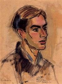 portrait fritz hundertwasser by josef maria svoboda