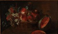 nature morte à la corbeille de fruits by jean-baptiste oudry