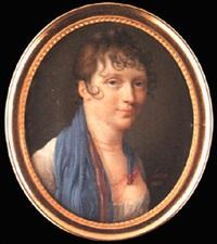 a lady wearing décolleté white dress by henri-joseph hesse