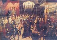 belshazzar's feast by joos van winghe