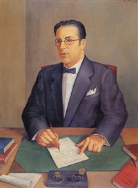 portrait of miguel angel quevedo by jorge arche