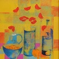 still life, fruit & flowers by david gordon hughes