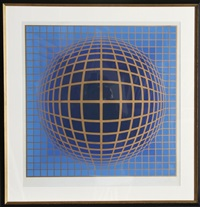 domb-b (blue) by victor vasarely