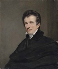 portrait of antonio canova in a black coat and white cravat by john jackson