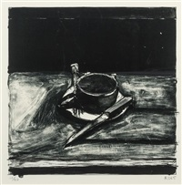 cup and saucer, 1965 by richard diebenkorn
