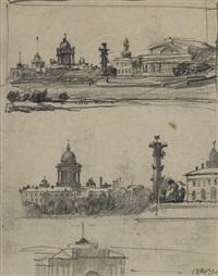 views of saint petersburg by anna petrovna ostroumova-lebedeva