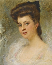 portrait of a lady said to be countess apraxine by konstantin egorovich makovsky
