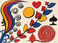 untitled (spade, hearts, diamond, clubs by alexander calder