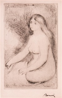 baigneuse assise (from art et nature) by pierre-auguste renoir