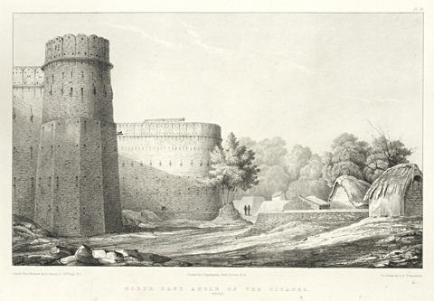 view of the forts of bhurtpoore weire bk w13 works folio by george abbott