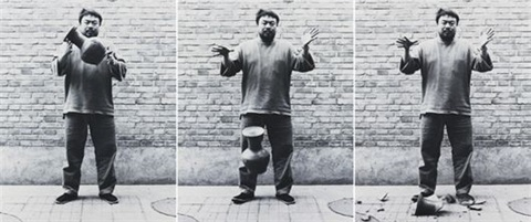 dropping a han dynasty urn by ai weiwei