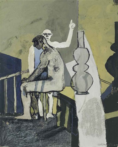 study for the castle by franz kafka by keith vaughan