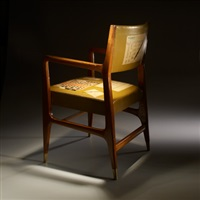 armchair (from vembi-burroughs series) by gio ponti and piero fornasetti
