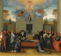 the lying in state and ascension of saint anthonius by fra bartolommeo