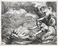 moses rescued from the nile by bartolomeo biscaino