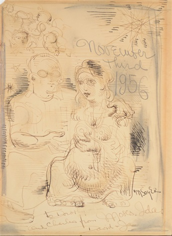 november 3rd 1956 by moses soyer