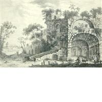 castle in ruins by gabriel perelle