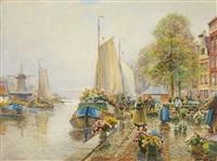 a dutch flower market by hans herrmann