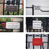 war on terror (cycles chained, noir et blanc) (5 works) by jeremy deller
