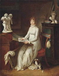 letter writing by marguerite gérard