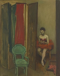 seated ballerina by moses soyer