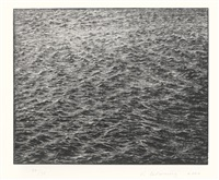 ocean surface by vija celmins