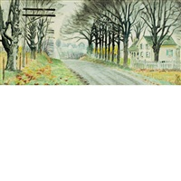 house by a country road by charles ephraim burchfield