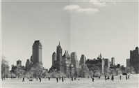 sheep meadow, central park (diptych) by andreas feininger