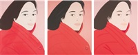 brisk day i; ii; and iii (set of 3) by alex katz