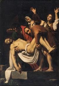 deposizione di cristo nel sepolcro by michelangelo merisi da caravaggio