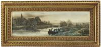 hausboot auf der ouse by walter stuart lloyd