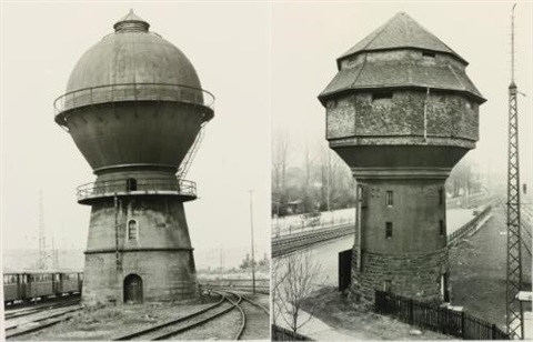 water tower trier ehrang germany water tower bischofsheim mainz germany in 2 parts by bernd and hilla becher