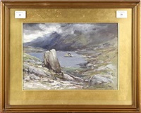 lake landscape by francis abel william taylor armstrong