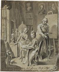 die familie des malers johann heinrich tischbein d. ä by conrad geiger