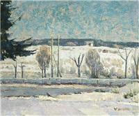 winter road by väinö kamppuri