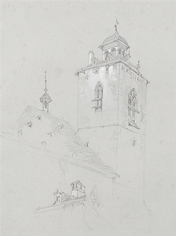 church tower switzerland study by john ruskin