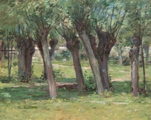 outside the garden wall by theodore robinson