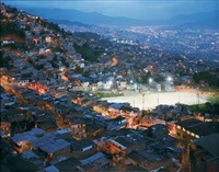 the granizal district of medellin, colombia, first populated by refugees (idps) 30 years ago by simon norfolk