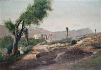 desert scenes (pair) by townley benson