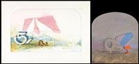 deya (+ nogent, oil on canvas laid on board; 2 works) by fernando maza
