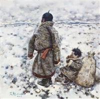 若尔盖的深冬 late winter at zoige plateau by ai xuan