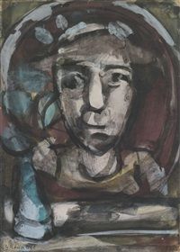 tête d'homme by georges rouault