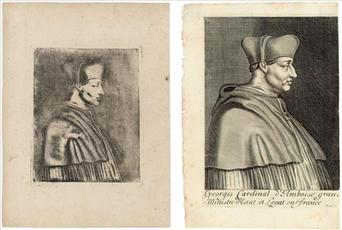 cardinal damboise engraving of same 2 works by joseph nicephore niepce
