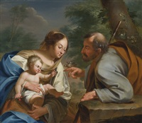 holy family by simon vouet
