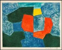 composition verte, bleue, rouge et jaune by serge poliakoff