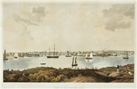 view of gloucester harbor by fitz henry lane