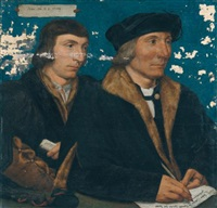 portrait of thomas godsalve (c.1481-1545) with his son john (c. 1510-1558) by hans holbein the younger