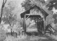 brown covered bridge by howard daniel becker